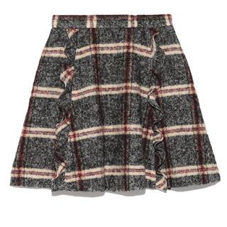 snidel - 【翌日発送】snidel チェックウールスカート
