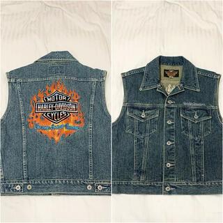 ハーレーダビッドソン(Harley Davidson)の【HARLEY DAVIDSONS】美品デニムジャケット/ベスト/古着(Gジャン/デニムジャケット)