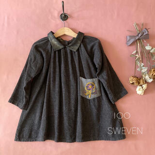 韓国子供服⌖SWEVENスウェボン|レトロフラワーワンピース*̩̩̥୨୧˖