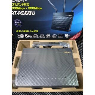 エイスース(ASUS)の未通電 ASUS WiFi 無線LANルーター RT-AC68U(PC周辺機器)