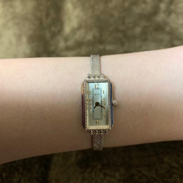 agete(アガット)のagete スクエアフェイスウォッチ レディースのファッション小物(腕時計)の商品写真