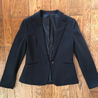 アオキ(AOKI)のAOKI ニットジャケット 濃紺(テーラードジャケット)