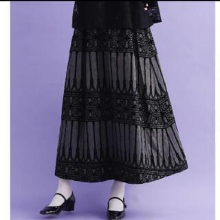 メルロー(merlot)のmerlot plus ゴシック フロッキー  ロング スカート(ロングスカート)
