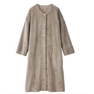 MUJI (無印良品) - 無印良品 あたたかファイバー 着る毛布スリーパー L ライトベージュ
