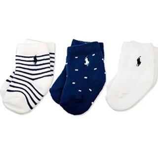 POLO RALPH LAUREN - 新品POLOラルフローレンベビー靴下3枚RALPHLAURENPOLOソックス