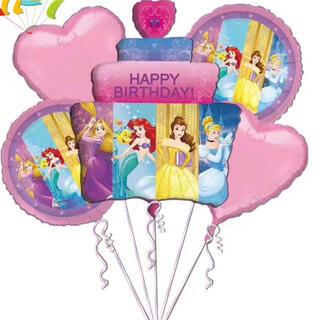 Disney - 新品Disneyプリンセスバルーン5個セット風船ディズニープリンセスマーメイド