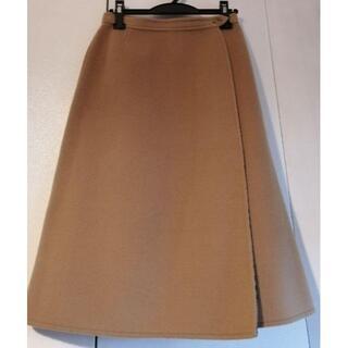 BURBERRY - バ-バーリBURBERRY ノバチェックウール リバーシプルのラップスカート