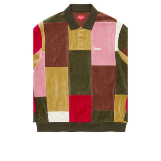 シュプリーム(Supreme)のSupreme Patchwork Velour L/S Polo(ポロシャツ)