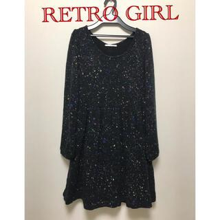 RETRO GIRL - RETRO GIRL  長袖ニットワンピース