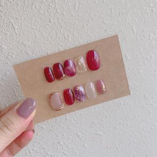 カシスカラー♡ネイルチップ(つけ爪/ネイルチップ)
