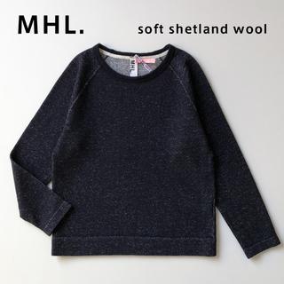 マーガレットハウエル(MARGARET HOWELL)のMHL. Soft Shetland ニットスウェット ネイビー エムエイチエル(ニット/セーター)