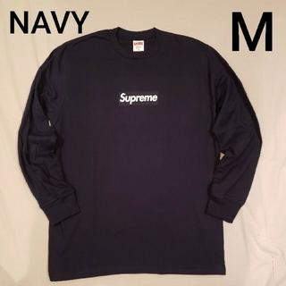 シュプリーム(Supreme)のSupreme Box Logo L/S Tee Navy M(Tシャツ/カットソー(七分/長袖))