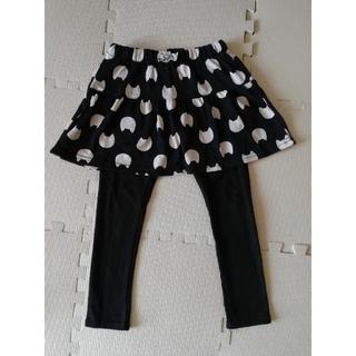 エニィファム(anyFAM)のanyfam スパッツ付スカート スカッツ クロ 110 USED(スカート)