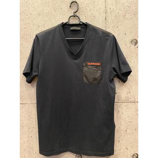 プラダ(PRADA)の【PRADA】ポケット付き半袖VネックTシャツ(Tシャツ/カットソー(半袖/袖なし))