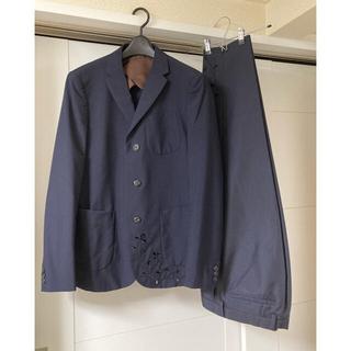 kolor - kolor 17ss サイズ1 刺繍テーラードジャケット スラックス navy