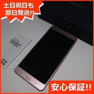 エイスース(ASUS)の美品 zenfone 3 Ultra ZU680KL ローズゴールド (スマートフォン本体)