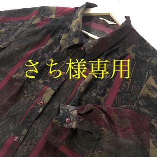グリモワール(Grimoire)の専用ページです。ブラウス 薔薇×ペイズリー 総柄 ヴィンテージ レトロ 美品(シャツ/ブラウス(長袖/七分))