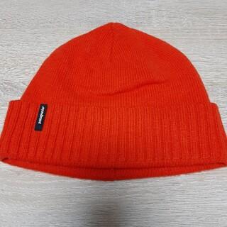 パタゴニア(patagonia)のpatagonia パタゴニア オレンジ ニット帽 ビーニー ユニセックス(ニット帽/ビーニー)