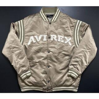 アヴィレックス(AVIREX)のAVIREXアヴィレックスサテン素材ゴールドカラースタジアムジャンパー2XL(スタジャン)
