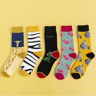 新品 まとめ売り5足組 かわいい靴下 レディース 人気 欧米 北欧海外 韓国