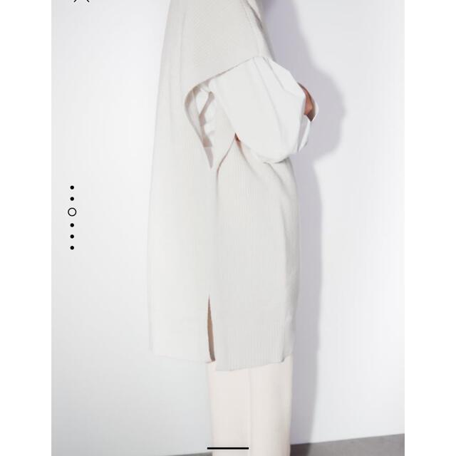 ZARA(ザラ)の【ZARA】ザラオーバーサイズニットベスト新品タグ付き レディースのトップス(ニット/セーター)の商品写真