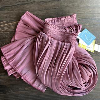 しまむら - プチプラのあや シャイニープリーツスカート 中紫M