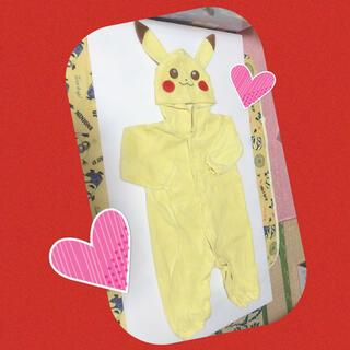ポケモン(ポケモン)のピカチュウ♡ロンパース80(ロンパース)