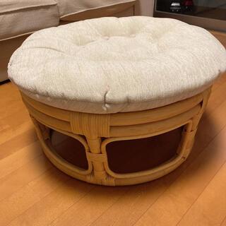 アクタス(ACTUS)のかなり美品 ラタン 籐 チェスト イス 椅子 オットマン 机 パパサンチェア(スツール)