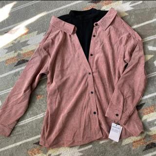 GRL - 新品◆グレイル GRL 重ね着風コーデュロイシャツ プチハイ くすみピンク