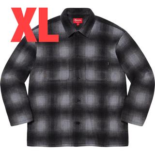 Supreme - Shadow Plaid Fleece Shirt black XL