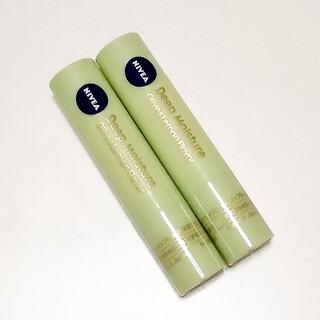 ニベア - ニベア ディープモイスチャー リップクリーム オリーブ&レモンの香り 2本セット