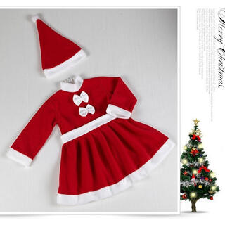クリスマス サンタ コスチューム 女の子 90 ベビー