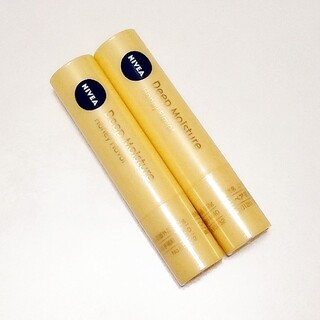 ニベア - ニベア ディープモイスチャー リップクリーム はちみつの香り 2本セット 未使用