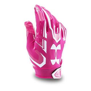 アンダーアーマー(UNDER ARMOUR)のアメフト アンダーアーマー  グローブ F5 ピンク MDサイズ【新品】(アメリカンフットボール)