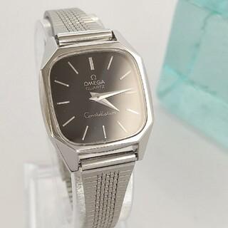 OMEGA - 綺麗 クォーツ オメガ 新品ベルト 黒 レディースウォッチ 腕時計 着物 極美品