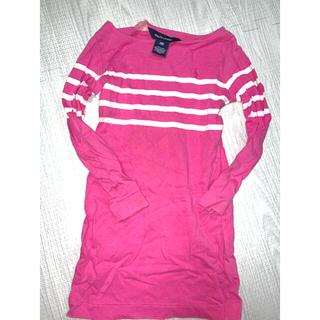 ラルフローレン(Ralph Lauren)のRALPH LAUREN 110サイズ ピンクラインロンT(Tシャツ/カットソー)