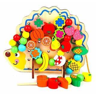 知育玩具 紐通し ひもとおし おもちゃ 知育 木製
