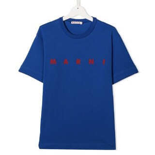 Marni - マルニ 新色 ロゴTシャツ ブルー 14y