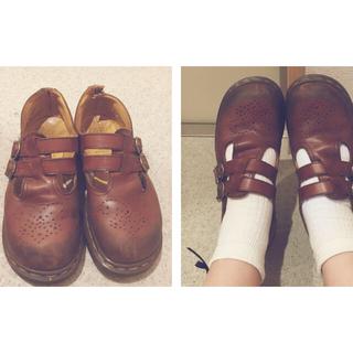 ドクターマーチン(Dr.Martens)の【着画あり】ドクターマーチン茶色お靴(ローファー/革靴)