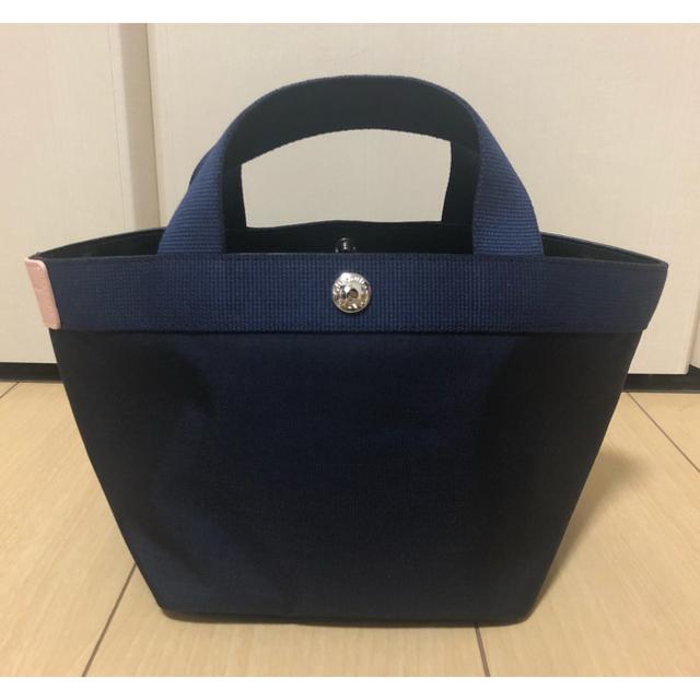 Herve Chapelier(エルベシャプリエ)の新品 エルベシャプリエ 701CD ネイビー×ネイビー×ドラジェ Sサイズ レディースのバッグ(ハンドバッグ)の商品写真