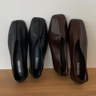 lawgy leather stitch shoes (black)