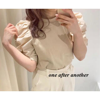 one after another NICE CLAUP - 新品 one after another 袖コンシャスTOPS