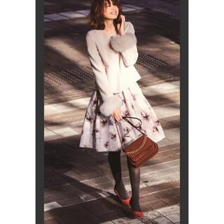Apuweiser-riche - Apuweiser-riche  秋冬用 花柄スカート