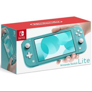 ニンテンドースイッチ(Nintendo Switch)の新品未開封未使用 任天堂Switch light ターコイズ 本体(携帯用ゲーム機本体)