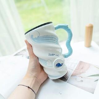 学生大容量マグカップ 陶磁器のコップ