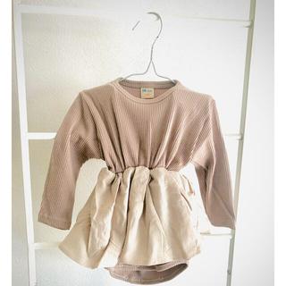 こども ビームス - Skirt RIB rompers 韓国子供服