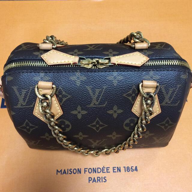 LOUIS VUITTON(ルイヴィトン)のルイヴィトン  スピーディ チェーン モノグラム 20 レディースのバッグ(ハンドバッグ)の商品写真