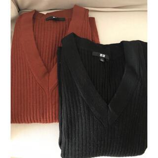 UNIQLO - メリノブレンドリブVネックセーター