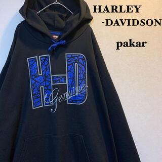 ハーレーダビッドソン(Harley Davidson)の<Harley-Davidson>メキシコ製 90s 刺繍 ゆるだぼ  パーカー(パーカー)