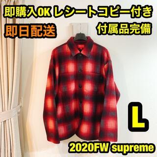 Supreme - L supreme Shadow Plaid Fleece Shirt フリース